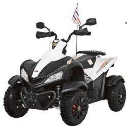 Электроквадроцикл Dongma ATV White 12V - DMD-268A-W (колеса резина, многорычажная подвеска, музыка)